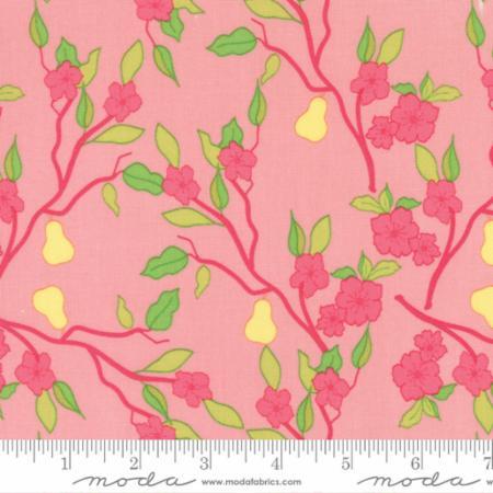 "Moda Fat Quarter 22""x18"" - Acreage Pears Blossom 45502 21"