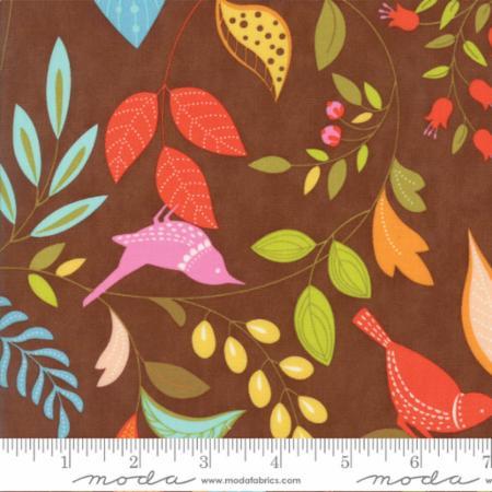 "Moda Fat Quarter 22""x18"" - Wing Leaf Chestnut 10060 19"