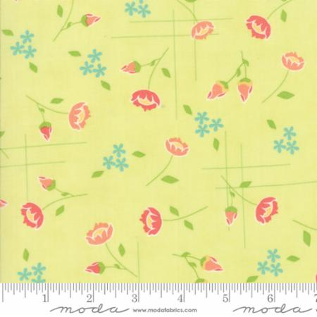 "Moda Fat Quarter 22""x18"" - Lulu Lane Sprig 29021 17"
