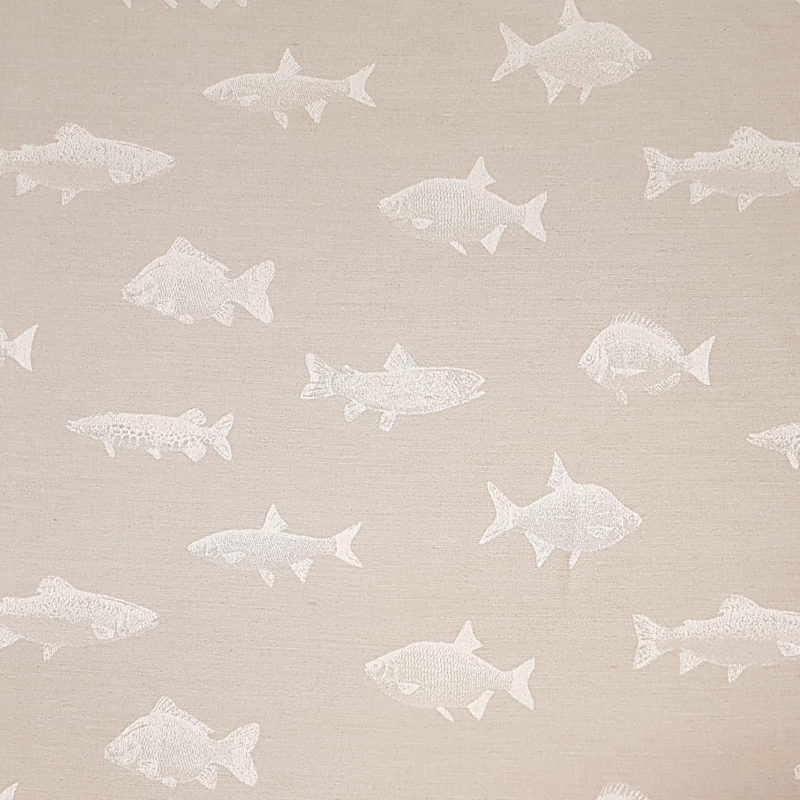 Bowland Curtain Fabric Linen Blend Freshwater Fish