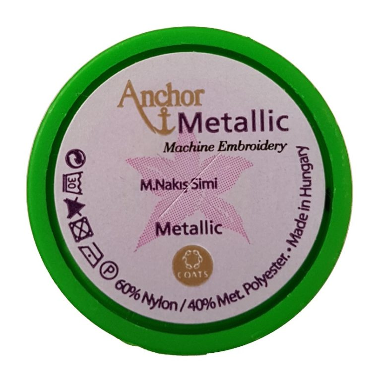 Anchor Alcazar Machine Embroidery Thread Set - Metallic 24 x 100m
