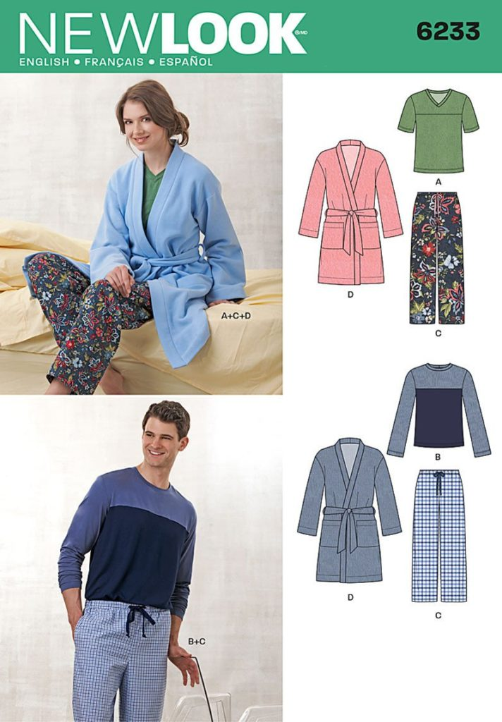 New look sewing pattern 6233 His & hers – Deany Fabrics